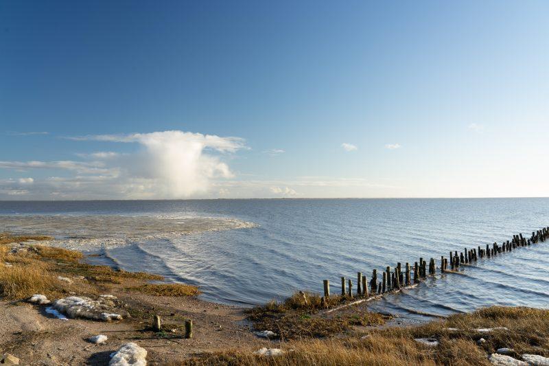 Küste, normal ohne Langzeitbelichtung.
