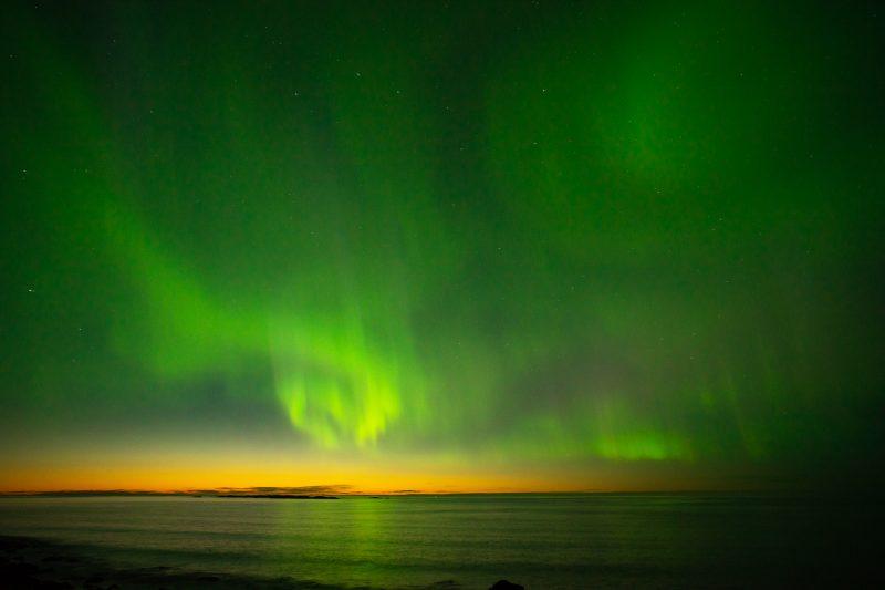Uttakleiv Beach, Aurora