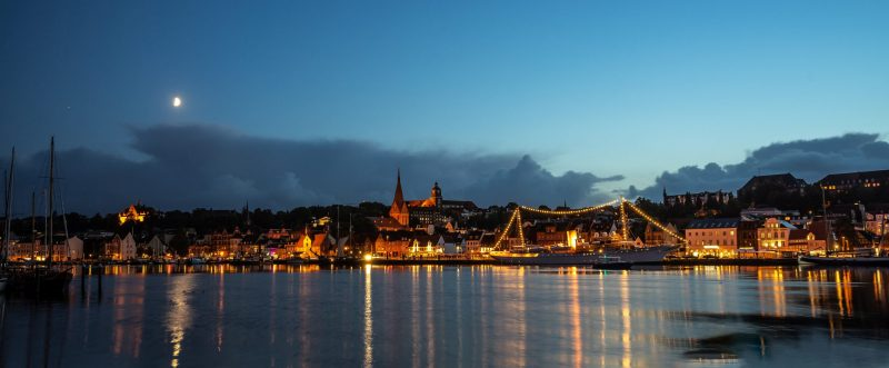 Flensburg, Yacht Dannebrog - Panorama