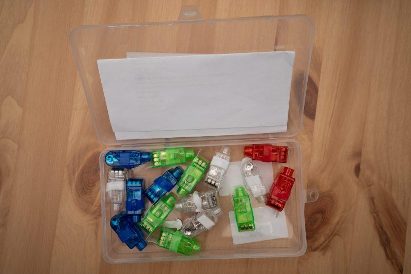Kiste mit Fingerlichtern