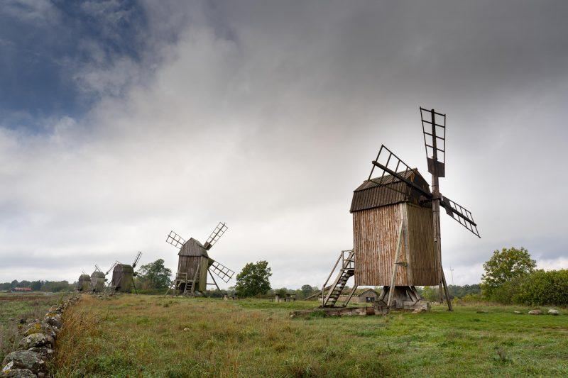 Öland, Windmühlen